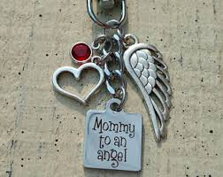remembrance keychain miscarriage keychain etsy