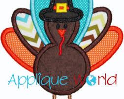 turkey thanksgiving applique embroidery turkey