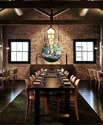 restaurant with artistic facade brick wall and graffiti bar