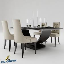 Dining Table Sets 3d Model Dining Dining Table Set Cgtrader