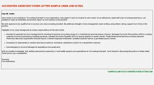 sample accounting assistant cover letter sample cover letter for