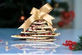 an edible christmas present white chocolate bark