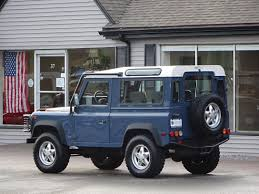 blue station wagon 1995 land rover defender 90 station wagon copley motorcars
