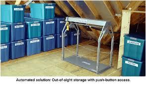 about versalift attic lifts garage attic storage lift elevator
