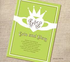 wedding invitations ireland wordings claddagh ring wedding invitations in conjunction with