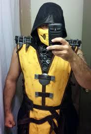 Scorpion Halloween Costume Mkx Scorpion Costume Pieces Cosplay Mortalkombat