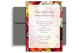 yellow pink white red roses wedding invitation templates 5x7 in