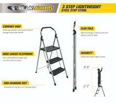 22 ft ladder home depot black friday sale gorilla ladders 3 step lightweight steel step stool ladder with