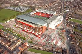 photos liverpool unveils redesigned anfield to seat close to