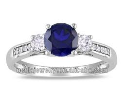 wedding rings trio sets for cheap fashion created sapphire and imitation 3 ring cheap