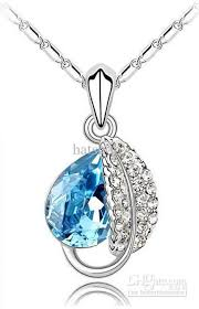 diamond necklace with sapphire images Wholesale ocean blue diamond necklace sapphire necklaces women 39 s jpg