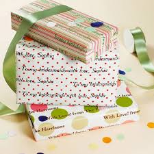 wedding gift wrapping paper personalized gift wrapping paper