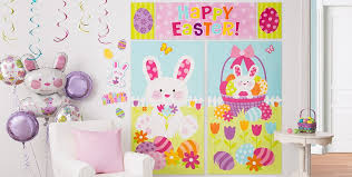 easter bunny decorations wall window easter decorations party city