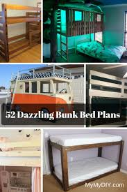 Wood For Building Bunk Beds by 52 Awesome Bunk Bed Plans Mymydiy Inspiring Diy Projects