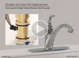 single kitchen sink faucet diverter and seal kit replacement for single