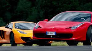 Ferrari 458 Top Speed - mclaren mp4 12c vs ferrari 458 on top gear karage tv