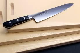 professional grade kitchen knives cutting board yoshihiro cutlery