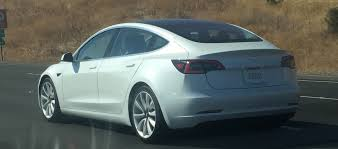 tesla model 3 production car spotted in the wild u2013 the last driver