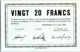chambre de commerce mulhouse banknote 20 francs mulhouse chambre de commerce série b 1940