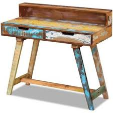 Handmade Office Furniture by Vintage Retro Desk Table Office Furniture 2 Drawers Solid Wood