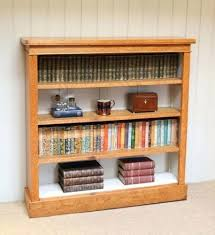 bookcase open oak bookcase solid wood open back bookcase mission