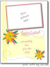 printable easter photo frames easter card templates print
