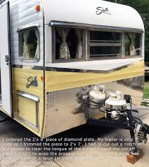 travel trailer with garage trailer stone guard aluminum diamond plate trailer stoneguard mx