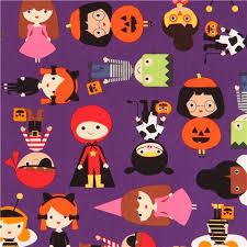 Halloween Costume Pumpkin Purple Robert Kaufman Fabric Children Halloween Costume Pumpkin