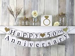 50th anniversary decorations 50th anniversary banner happy anniversary banner anniversary