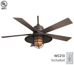 nautical outdoor ceiling fans minka aire rainman fan f582 orb at del mar fans lighting with