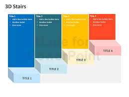 3d templates for powerpoint 3d stairs editable powerpoint template
