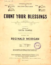 Count Your Blessings Lyrics And Chords Count Your Blessings 1948 Words By Edith Temple By