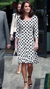 polka dot hair duchess kate looks youthful in polka dot dress shorter hair at