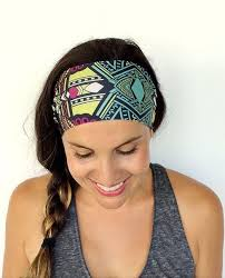 sports headband women non slip performance printed sports headband