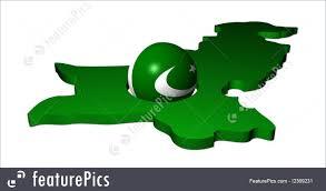 Oakistan Flag Pakistani Flag Sphere With Map Stock Illustration I2369231 At