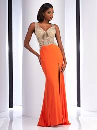 orange dress clarisse 2742 prom dress promgirl net