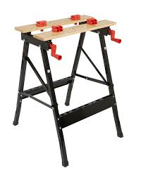 Keter Folding Work Table Bench Mate With 2 Clamps B U0026q Foldable Vice Jaw Clamp Workbench W 625mm Departments