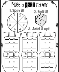 fact family worksheets for first grade worksheets