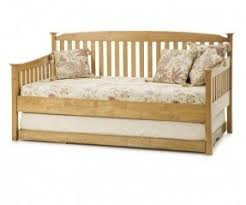 Pop Up Bed Oak Daybed With Trundle Foter