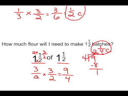 multiply mixed numbers word problems youtube