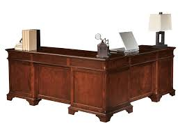 Executive Office Desk Cherry Hekman Home Office Weathered Cherry Executive L Desk 79277 At