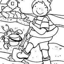 summertime vacation beach coloring summertime