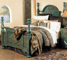 Turquoise Bed Frame Similar At Rusticartistry Here Http Rusticartistry