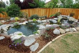 Backyard Small Pond Ideas Garden Ponds Designs Exprimartdesign Com