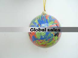 free shipping christmas tree ornament 7 cm diameter light clear