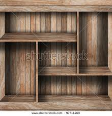 vector wood shelf on wooden wall stock vector 100233338 shutterstock