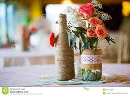 wedding reception table centerpieces stock photo image 40027394