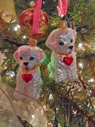 bichon deck the halls christmas tree ornament dog christmas tree