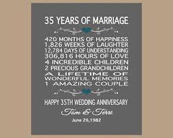 35 year wedding anniversary 35th wedding anniversary 1983 personalized print