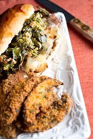 gourmet turkey roast turkey sandwich with braised greens bacon swiss chef troy